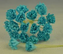 TURQUOISE GYPSOPHILA / FORGET ME NOT Mulberry Paper Flowers